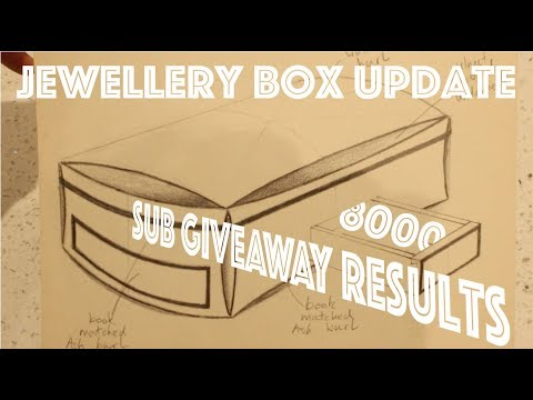 8000 Sub Giveaway results + Jewellery Box Update - SE Woodwork
