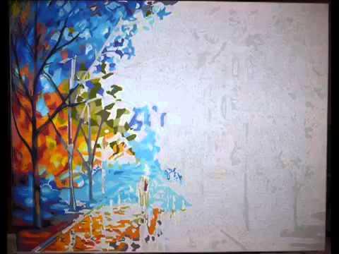 Картина своими руками на холсте по цифрам 78