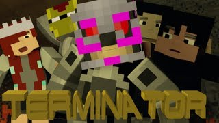 Minecraft Minigame - Terminator! Ft. Gizzy Gazza, RagingHouse, Smoothscape, and Lilshortysgs