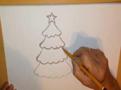 Видео как нарисовать большую ёлку