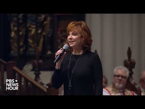WATCH: Reba McEntire sings 'The Lord's Prayer' at George H.W. Bush's funeral
