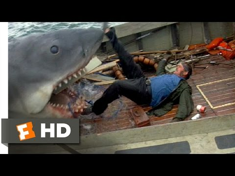 Jaws (1975) - Quint Is Devoured Scene (9/10) | Movieclips