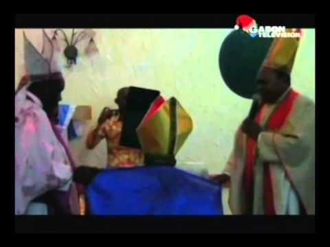 Ordination d'un nouvel évêque à l 'église post missionnaire du Gabon
