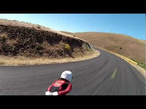 Tristan BellaBoy with Mischo Erban training run at the Longboard Maryhill Festival of Speed 2012