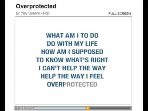 Britney Spears - Overprotected Karaoke Com Back Vocal video