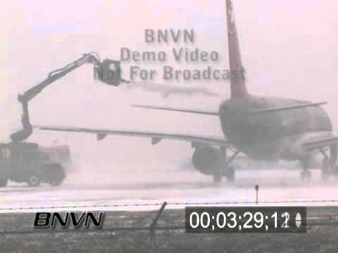 12/01/2007 Airport and Aviation Winter Storm Stock Video Footage
