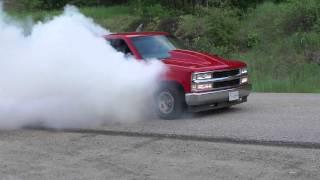 Custom 97 Chevy Truck burnout smoke show