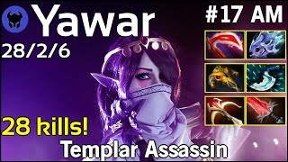 28 kills! Yawar [FWD] plays Templar Assassin!!! Dota 2 7.22