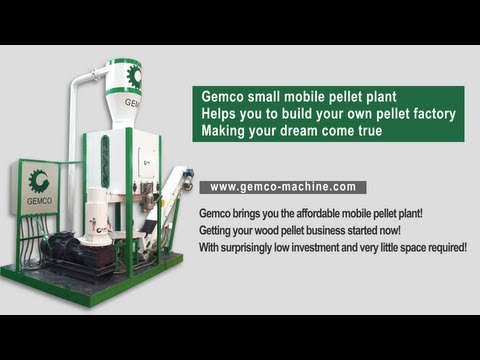 Small mobile pellet plant is to be your pellet making factory