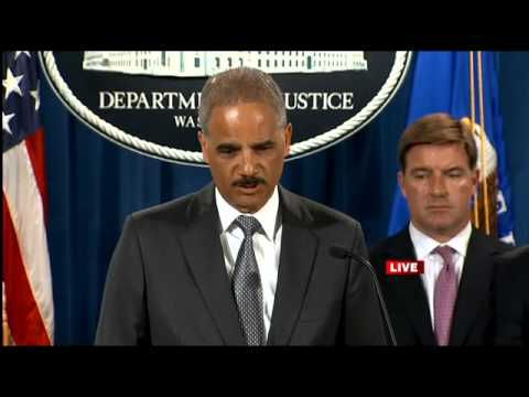 Attiorney General Eric Holder speaks about Bank of America, James Foley, and Ferguson