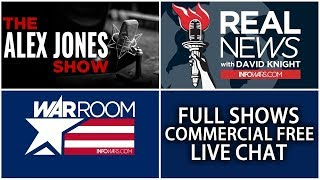 LIVE 📢 Alex Jones Infowars Stream With Today's Shows Commercial Free • Monday 7/16/18