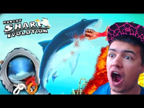 Hungry Shark Evolution | NEW BABY GREAT WHITE SHARK! | Hungry Shark Evolution Epic BOSS BATTLE!