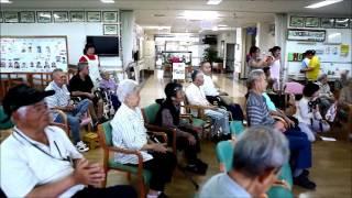 石垣島の老人介護保健福祉施設「聖紫花の杜」へ子ども達が訪問