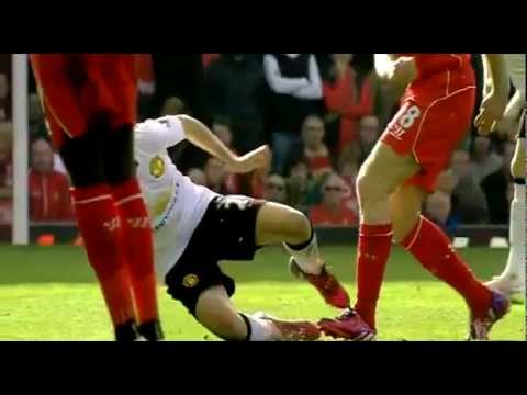 Steven Gerrard RED CARD FOUL HORRIBLE TACKLE on Ander Herrera Liverpool vs Manchester United HD