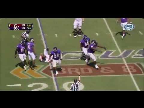 Brandon Williams JR OLB ECU vs. VT 2013 Highlights http://collegefootballdude.com/players/brandon-williams.