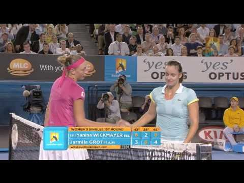 Watch highlights from the day one night session at Australian Open 2011 featuring Novak Djokovic, Yanina Wickmayer, Jarmila Groth and Marcel Granollers.