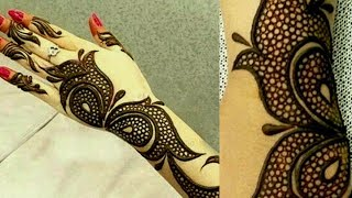Simple Dot Arabic Mehndi Design|Latest Arabic mehndi Design 2018|Back Hand Arabic Mehndi Design|