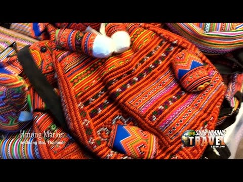 SUAB HMONG TRAVEL:  Hmong Market in Central Chiang Mai, Thai
