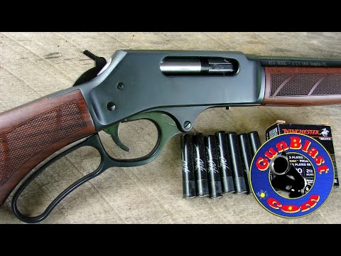 Shooting the Lever-Action 410 Shotgun from Henry Repeating Arms - Gunblast.com