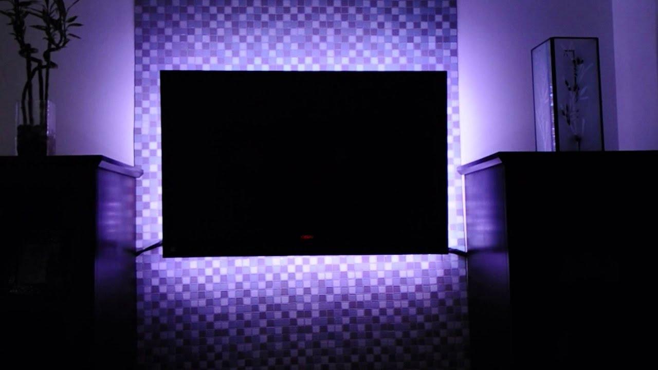 Самодельная фоновая подсветка телевизора от USB 13