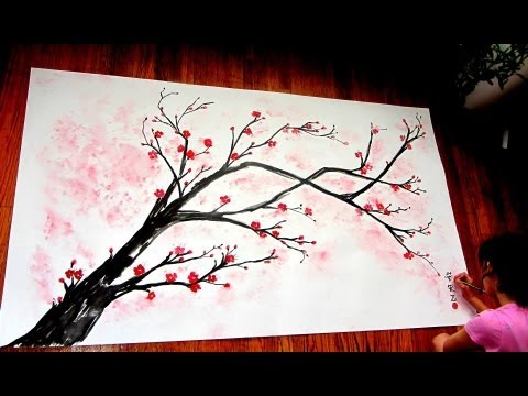 The gallery for --> Simple Cherry Blossom Tree Painting