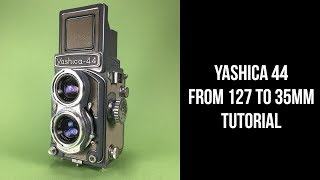 How to: Modify Yashica 44 to shoot with 35mm film. DIY Project Tutorial