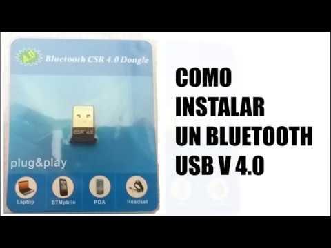 Instalacion de Adaptador bluetooth usb v4.0