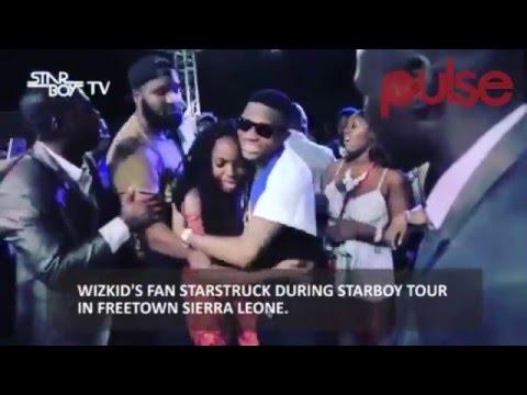 Wizkid's fan starboy during starboard tour in Freetown Sierra Leone