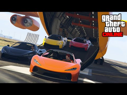 GTA 5 Online - Custom Game Modes, Cargo Plane Stunt Fails & Group Shenanigans || PC