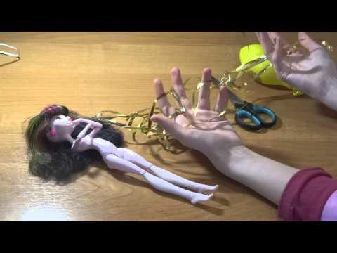 Как сделать куклу монстр хай из кукол 71