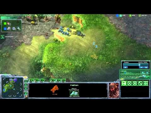 StarCraft 2 Strategy - [T] Marine Hellion Into Banshee - Step-by-Step