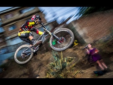 High speed mountain biking in Chile