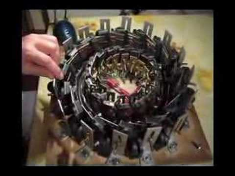 Ball rolling in circle by Permanent Magnets (Video 1)