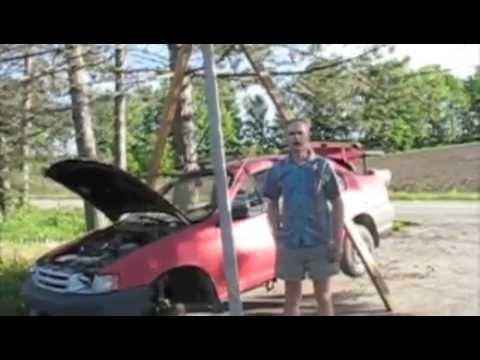 Tripod hoist lifting a car, sold by vispieux.com