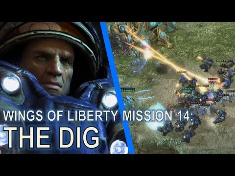 Starcraft II: Wings of Liberty Mission 14 - The Dig [Full Clear]