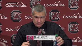 Frank Martin gives a Steve Spurrier quote