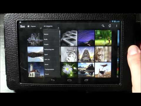 App Review (nexus7): 500px [warning] The Website Does Contain Adult Content! video