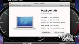 "Another Apple Macbook Air 13"" SSD READ/WRITE SPEED TEST"