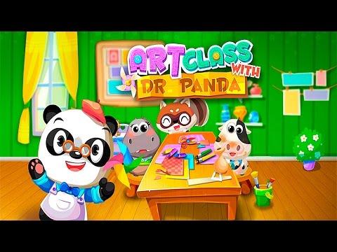 Арт класс Доктора Панды - Развивающее видео для детей. Art Class with Dr  Panda