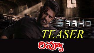 Saaho Official Telugu Teaser Review || Prabhas || Sujeeth