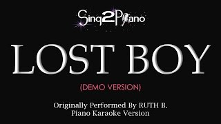 Lost Boy Piano Karaoke Demo Ruth B