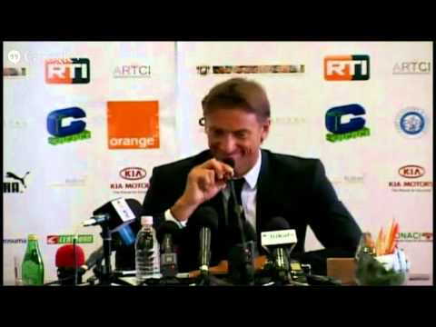 Conférence de presse du nouveau coach des Eléphants, Hervé Renard