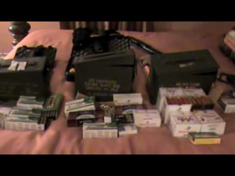 Ammo Stockpile for shtf and wrol with a few guns thrown in