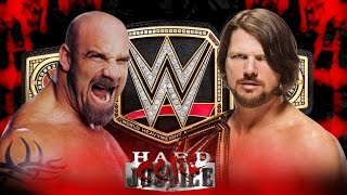 Goldberg vs Aj Styles for Championship
