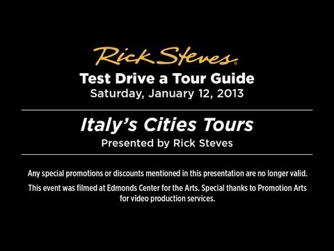 Italy City Tours 2013 with Rick Steves