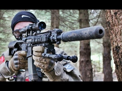 AIRSOFT WAR STEYR AUG, MP40, PTS M4 Scotland HD