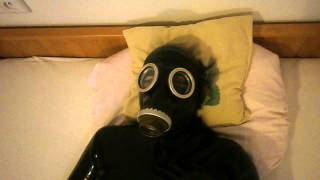 Relax my latex catsuit and russian gas mask