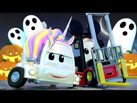 Ktoś Zabrał Dynie Na Halloweenową Imprezę!   Patrol Policyjny W Mieście Samochodów Bajki Dla Dzieci