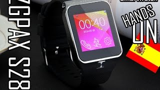 ZGPAX S28 Smartwatch hands on en Español | Clon del Galaxy Gear 2