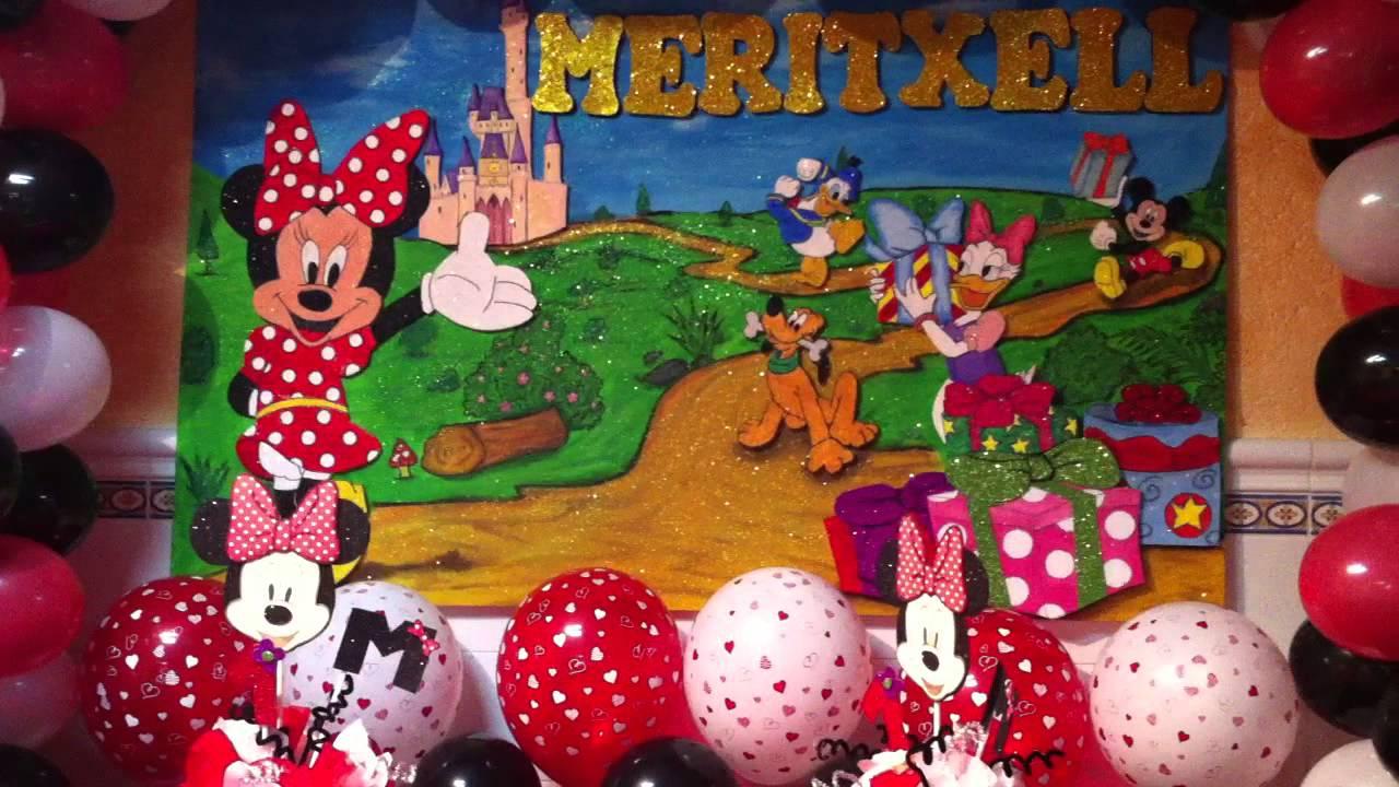 Minnie mouse cumplea os 1 a o meritxell youtube - Feliz cumpleanos bebe 1 ano ...